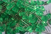 stock photo of diodes  - Green  - JPG