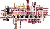 picture of electronic commerce  - Electronic commerce word cloud concept - JPG