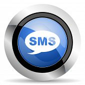 pic of sms  - sms icon message sign original modern design for web and mobile app on white background  - JPG