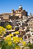 image of piazza  - The old historic town of Piazza Armerina in central Sicily in the Enna province Italy - JPG