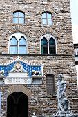 stock photo of piazza  - Statues at Piazza della Signoria - JPG
