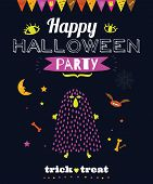 pic of evil  - Bright trick or treat card in vector - JPG
