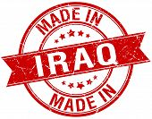stock photo of iraq  - made in Iraq red round vintage stamp - JPG