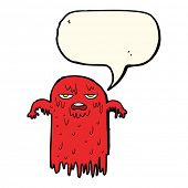 picture of spooky  - cartoon spooky ghost with speech bubble - JPG