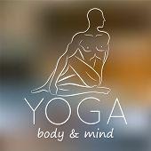 stock photo of yoga  - Logo for yoga studio - JPG