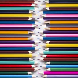 stock photo of pencils  - Abstract background colored pencils DSLR photography pencils square picture set of drawing fine arts background of colored pencils bright picture chaotic arrangement multi - JPG