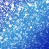 Blue Christmas Background With Snowflakes poster