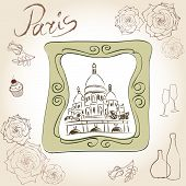 Постер, плакат: Paris frame background 5