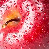 Постер, плакат: Красное яблоко макро