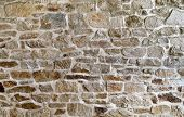 stock photo of stone house  - stone wall - JPG