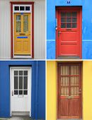 stock photo of front door  - Colorful front door collection - JPG