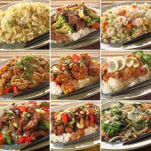 foto of chinese food  - Collection of asian food dishes - JPG