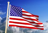 foto of usa flag  - High resolution 3D USA flag  - JPG