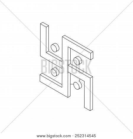 Swastika Icon Isometric 3d Style