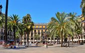 BARCELONA, SPAIN - AUGUST 16: Plaza Real on August 16, 2011 in Barcelona, Spain. The square, with la