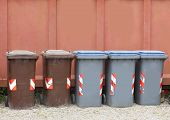 Containers For Recycling Waste To Properly Dispose Of All Waste In Municipal Recycling poster