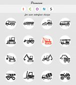 Construction Machinery Web Icons For User Interface Design poster