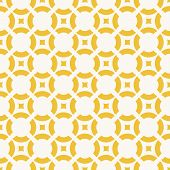 Yellow Geometric Seamless Pattern Simple Figures, Circles And Squares. Funky Colorful Texture. Abstr poster