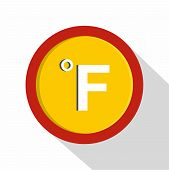 Fahrenheit Icon. Flat Illustration Of Fahrenheit  Icon For Web poster