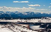 picture of beartooth  - View from Beartooth Pass close Yellowstone National Park - JPG