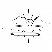 Overcast Icon. Outline Illustration Of Overcast  Icon For Web poster
