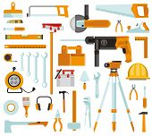 Tool Set. Set Of Construction Tools. Tool Set Repair And Construction. A Set Of Building Tools Isola poster