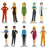 Women Working In Non-traditional Roles, Industries: Technolog, Miner, Military, Automechanic, Scient poster
