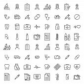 Set Of Healthcare Thin Line Icons. High Quality Pictograms Of Medical. Modern Outline Style Icons Co poster
