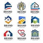 Creative Real Estate Logo, Property And Construction Logo Design Vector, Colorful Homes Logo Concept poster