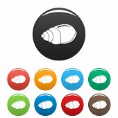 Single Shell Icon. Simple Illustration Of Single Shell Icons Set Color Isolated On White poster