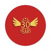 30 Years Anniversary Sign. Element Of Anniversary Sign. Premium Quality Graphic Design Icon In Badge poster