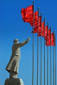 picture of zedong  - A Statue of Chairman Mao Zedong in the city of Kashgar - JPG