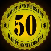 picture of 50th  - Symbol Sign stamp celebrating 50th wedding anniversary - JPG