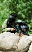 pic of gun shot wound  - Picture of paintball shooter ready for shoot - JPG