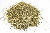 foto of catnip  - Heap of dried catmint on white background - JPG