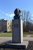 Statue Of Karl Marx In St.petersburg