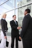 Diverse Business Team Shaking Hands