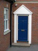 pic of front door  - A blue front door - JPG