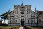 pic of carthusian  - Church facade of the monastery complex Certosa di Pavia - JPG