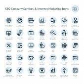 SEO Firma-Services und Internet-marketing-Symbole