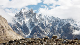 image of skardu  - Jagged mountain scenery in the Karakorum Range Pakistan - JPG