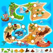 foto of treasure map  - Various Exotic Location from Pirate Treasure Map