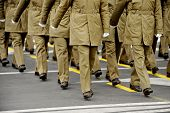 pic of military personnel  - Legs of military personnel are seen during a national day parade - JPG