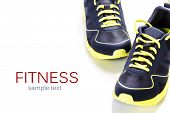 stock photo of relay  - Sport shoes on white background - JPG