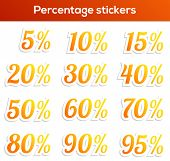 picture of 50s 60s  - Isolated set of 14 percentage stickers  - JPG