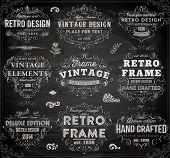 stock photo of scroll  - Vintage Frames and Scroll Elements - JPG