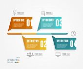 stock photo of box-end  - Vector Timeline Infographic - JPG