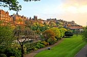picture of british culture  - View of old Edinburgh - JPG