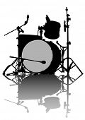 foto of drum-kit  - Drum kit for rock band on a white background - JPG