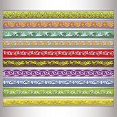 image of tatar  - Ribbon motif Tatar ornament  - JPG